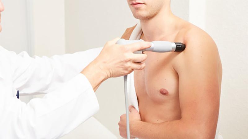 treatment of shoulder with shockwave